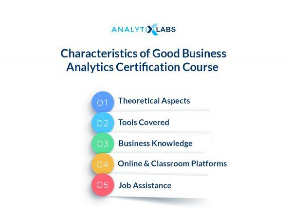 Characteristics of Good Analytics Certification Course